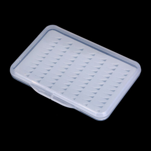 1X Fly Fishing Box Super Slim With Foam Insert Transparent Hook Box Fly Box 9UK