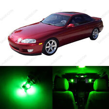 8 x Green LED Interior Light Package For 1992 and 2000 Lexus SC300 SC400