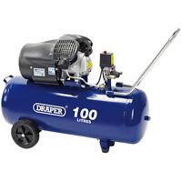Draper 100l 230v 2.2kw (3hp) V-twin Air Compressor 65396