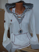 Kangaroos Sweatshirt Pulli Gr. 40/42 gemustert mit Kapuze (672) Kordelzug NEU