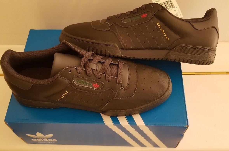 Neue männer adidas yeezy powerphase calabasas schwarze schuhe cg6420 größe 10.