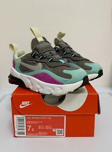 Scarpe-Bambina-Nike-Air-Max-270-RT-Grigio-Viola-Sneaker-Sportive-23-5-Invernali