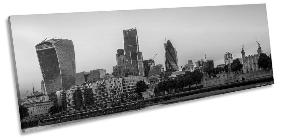 Londres sunset city skyline b&w toile wall imprimer art pano encadrée imprimer wall 35f196