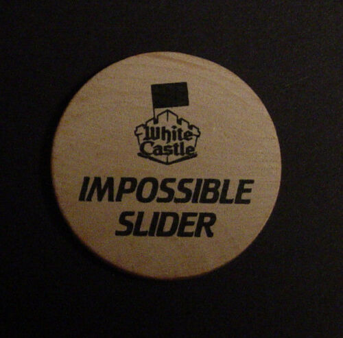 White Castle Impossible Slider Launch Party Food Token Hamburger Burger King New