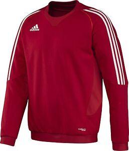 adidas-Maenner-Trainingsshirt-rot-Sweat-Shirt-Jogging-Sport-Fitness-Gr-S-XXL