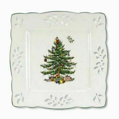 Spode Christmas Tree Sale: Spode Christmas Tree Pierced Square Tray 4056355 For Sale