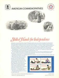 80-13c-Skilled-Hands-1717-1720-USPS-Commemorative-Stamp-Panel