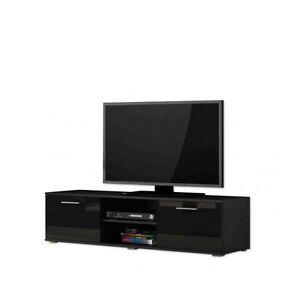 tv schrank soho tv unterschrank tv lowboard schwarz schwarz hochglanz 605349684920 ebay. Black Bedroom Furniture Sets. Home Design Ideas