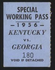 1956 UGA vs KENTUCKY FOOTBALL Special Working Pass Wildcats vs BULLDOGS  RARE!
