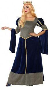 Déguisement Dame Médiévale Bleu Femme Xxl Princesse Moyen Age Neuf BéNéFique Au Sperme