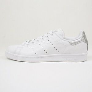 S80342 BNIB  120 Men Adidas Stan Smith White Silver Ostrich Leather ... d746e70c6