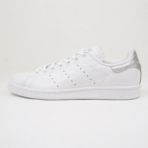 on sale 35ca5 bf670 S80342 BNIB $120 Men Adidas Stan Smith White Silver Ostrich Leather Euro  S80342