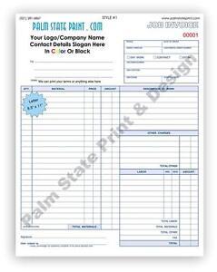 50 2 part contractors invoice receipt work order carbon copy forms, Invoice templates
