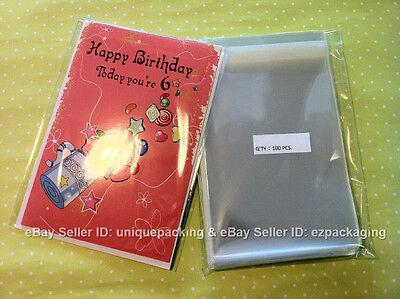 Card Resealable Cello Cellophane Bags A1+ 5000 Pcs 3 13//16 x 5 3//16 Clear