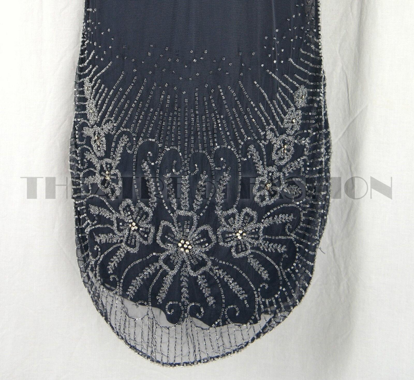 DRESS 20s VINTAGE GATSBY TOPSHOP BEAD 10 12 ART DECO DECO DECO FLAPPER TOP 30s WEDDING d516c7
