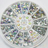 5 Size Mixed Lot Glitter Rhinestones 3D Nail Art Decor Cute DIY Accessories BICU