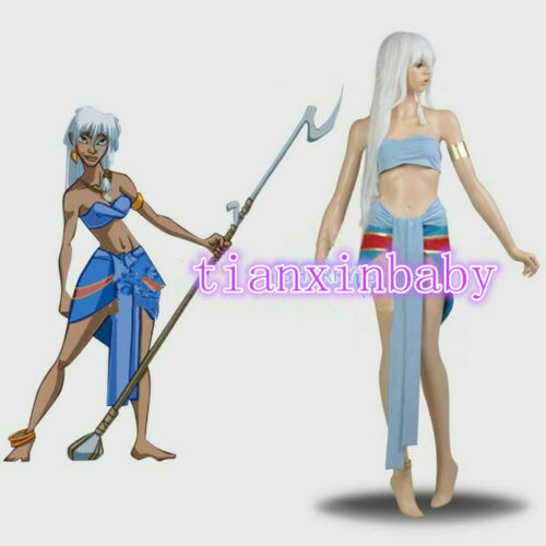 Atlantis the Lost Empire Princess Kida cosplay costume Adult Women/'s Dress