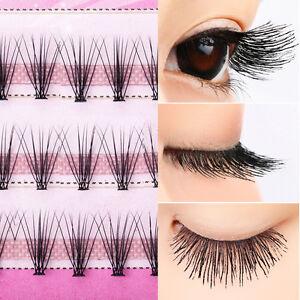 04f38ea5321 Image is loading Makeup-Individual-False-Eyelashes-Curl-Cluster-Eye-Lashes-