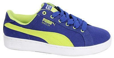 Puma Match toile Jr Juniors Baskets Chaussures Enfants Bleu Lacets 356009 01 B2A | eBay