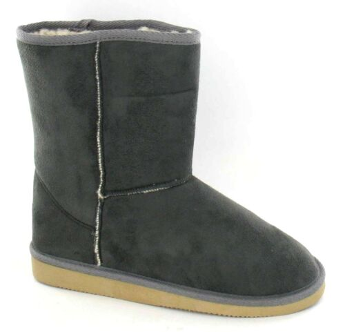 **SALE** Girls Grey Microfibre Faux Fur Lined Boots **WARM**COSY** X4002