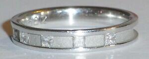 18CT-White-Gold-1-4ct-Diamond-Princess-Cut-Ladies-Ring