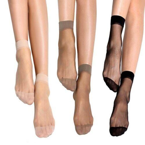 10 Pares De Calcetines Cortos De Verano Mujeres Bambú Finos De Seda Transparente