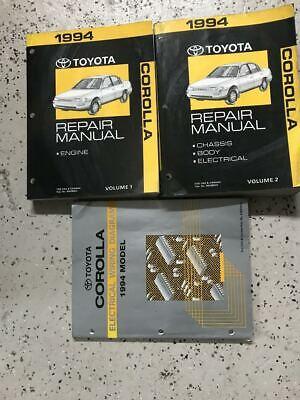 1994 Toyota Corolla Service Repair Shop Workshop Manual Set Oem W Ewd Ebay