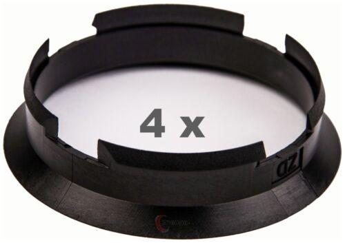 4 pezzi anelli di centraggio 63.4 mm a 60.1 mm NERO//BLACK