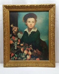 Vintage-Antique-Gesso-Gold-Gilt-24-034-x-20-034-Picture-Painting-Print-Frame-Wood-Art