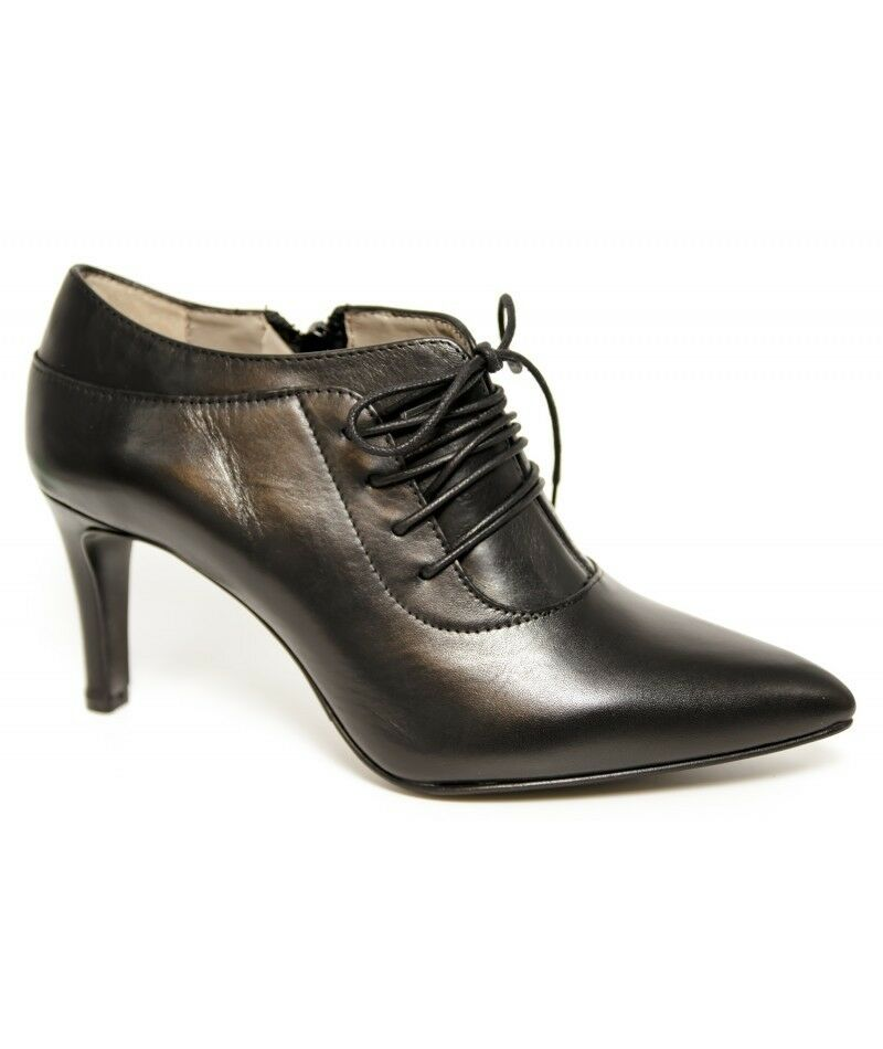 Cafè Noir Laced Leder Niedrig EU Heel Schuhes UK 4 EU Niedrig 37 LN35 97 1417f6