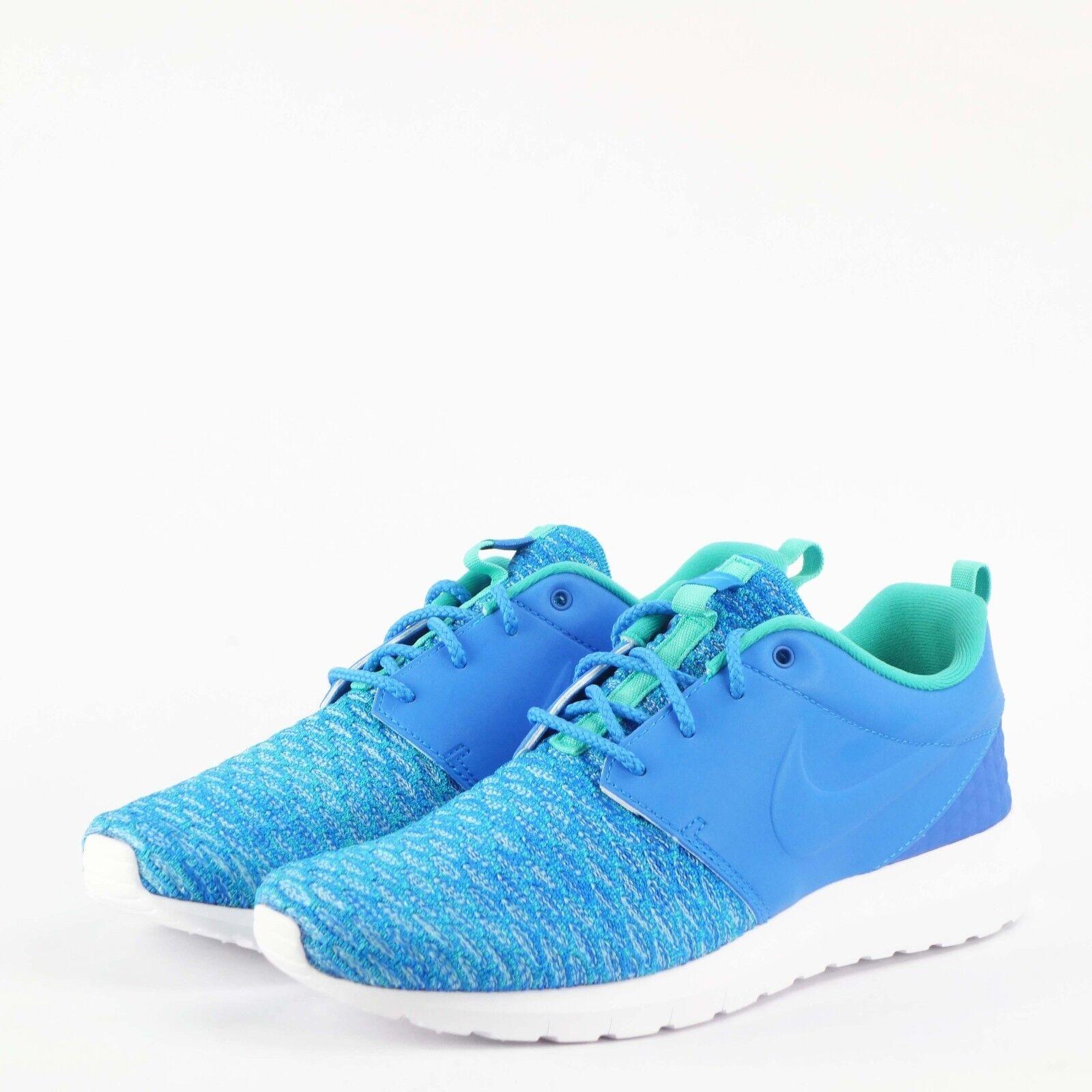 50633733447f2 Nike Roshe NM Flyknit PRM Rosherun Blue Mens Running Shoes 746825 ...
