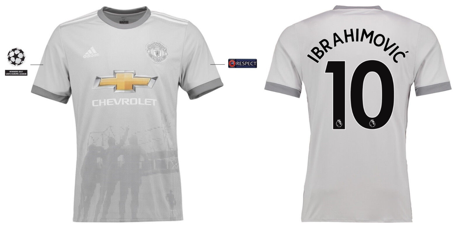Trikot Manchester United  2017-2018 Third UCL - Ibrahimovic 10  United ManU 3rd 922834