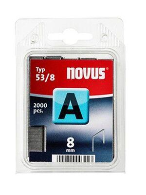 042-0413 2000x NOVUS Klammern A Typ 53 8 mm für Tacker Feindrahtklammern