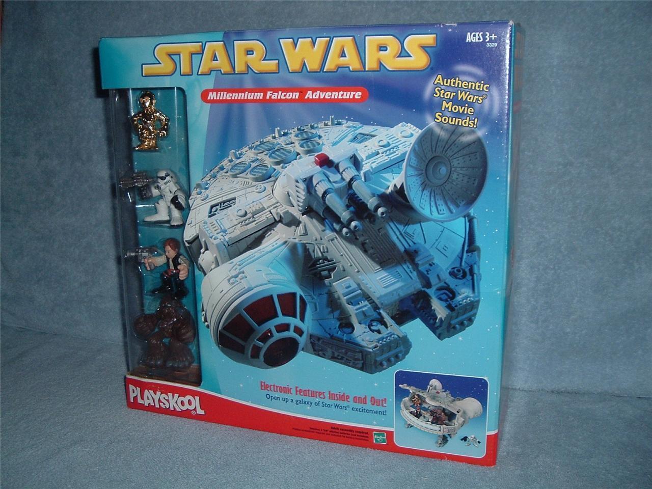 MILLENNIUM FALCON Adventures Galactic Heroes Playskool C-3PO Han Solo