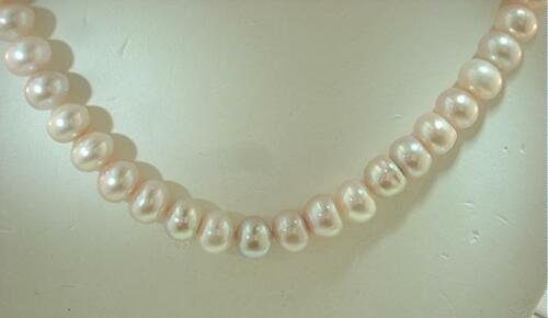 """6.5mm Cultured Freshwater Lavender Button Pearl Necklace 17/"""""""