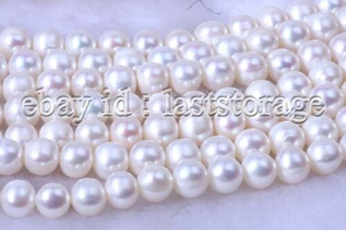 Ronda Blanco Agua Dulce Perla 8-9mm 5 Hilos naturaleza granos de moda al por mayor