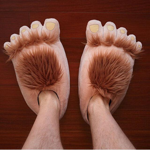 00a3a7d893ece4 Creative Funny Cute Plush Slipper Big Feet Slipper Women Men Winter House  Shoes