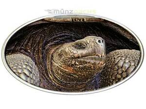 2 Dollar Turtle Lonely George Ultra High Xl Relief Niue