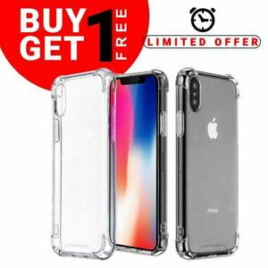 iPhone XS Max XR 6 7 8 Plus Bumper Silicone Shockproof Protective Case Cover