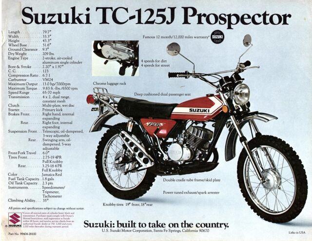 1972 Suzuki TC-125J Prospector 123cc motorcycle sales ...