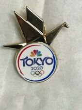 2020 Tokyo Olympics Dated Media Pin Badge NBC Olympic Pin 2020