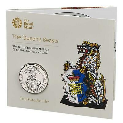 2017 Royal Mint Queens Beasts Lion of England BU £5 Five Pound Coin Pack