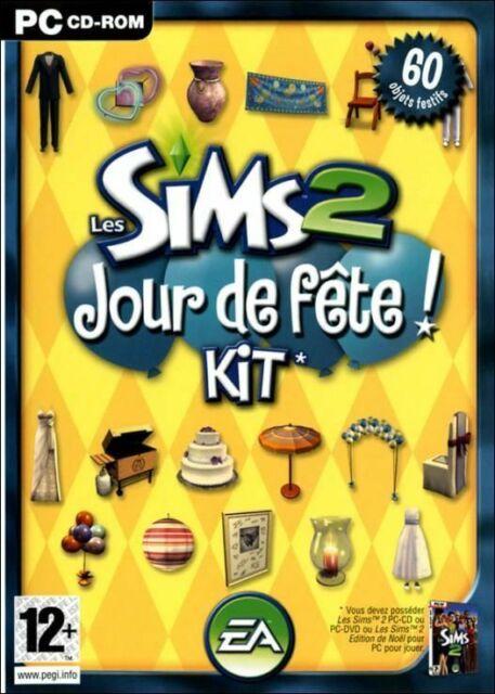 LES SIMS 2 - KIT - JOUR DE FÊTE / JEU PC / NEUF SOUS BLISTER D'ORIGINE / VF