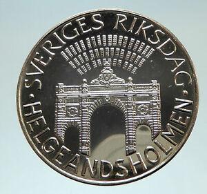 1983-SWEDEN-Riksdag-SWEDISH-Antique-Silver-100-Kronor-Coin-i76764