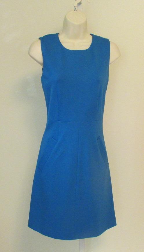 Diane von Furstenberg Carpreena Carpreena Carpreena Mini bluee iris dress shift DVF 6 knit zipper 20ea11