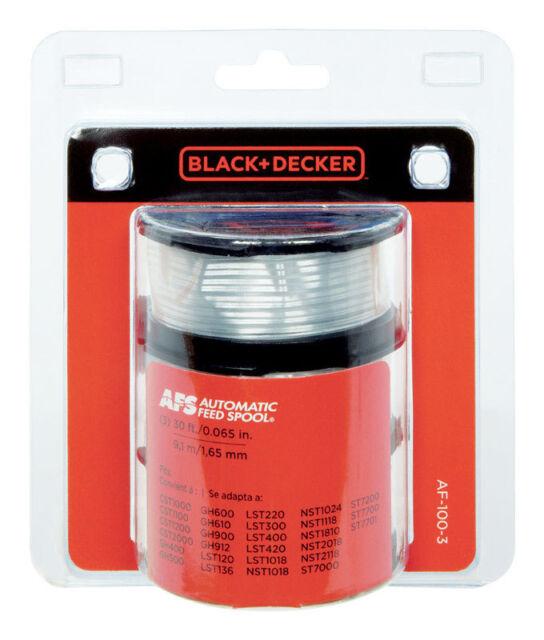 "Black & Decker .065"" Replacement Spool 3 pack AF-100-3ZP String Trimmer"