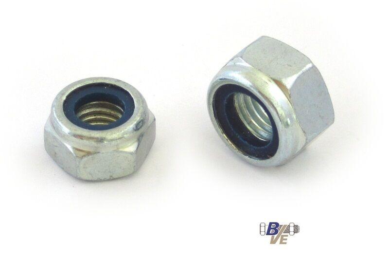 Sicherungsmuttern   Stoppmuttern DIN 985 Stahl verzinkt von M2,5 bis M30