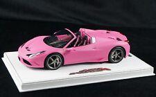 1/18 BBR FERRARI 458 SPECIALE A SPIDER MATT QATAR PINK WHITE BASE LE 10 PCS N MR
