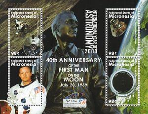 Agressif Neil Armstrong, Premier Homme Sur La Lune/apollo Xi Module Lunaire/space Stamp Sheet-afficher Le Titre D'origine Un Enrichit Et Nutritif Pour Le Foie Et Les Rein