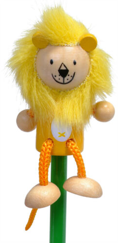 Hand Painted Lion Character Pencil /& Topper Set Party Bags /& Stocking Filler